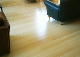 Our Natural colour displays bright blonde tones, its grain is beautifully consistent displaying enough variation in shade and texture to add to its' natural appearance. Boards are long and wide, finished with an amazingly durable semi gloss clear.