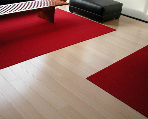 Sydney Vertical Bamboo Flooring Job Shot